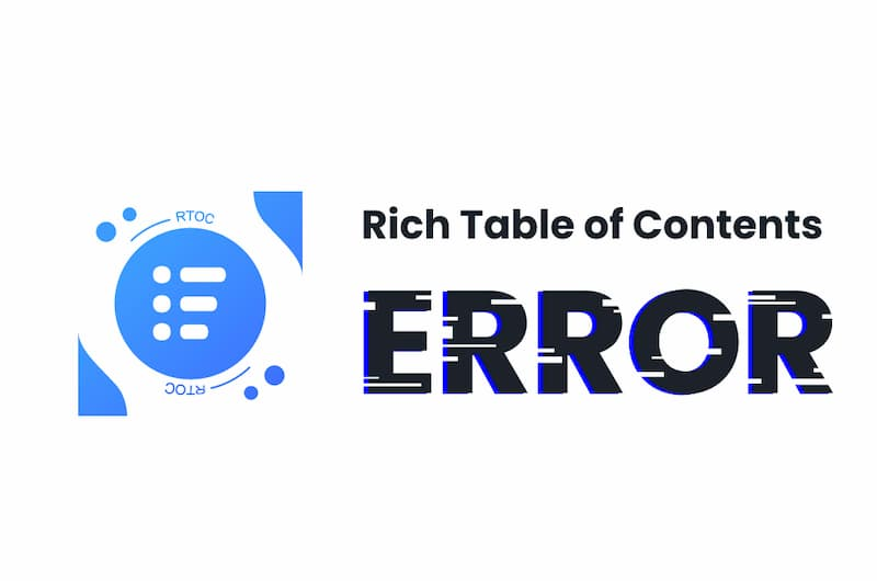 Rich Table of Contentsのエラー