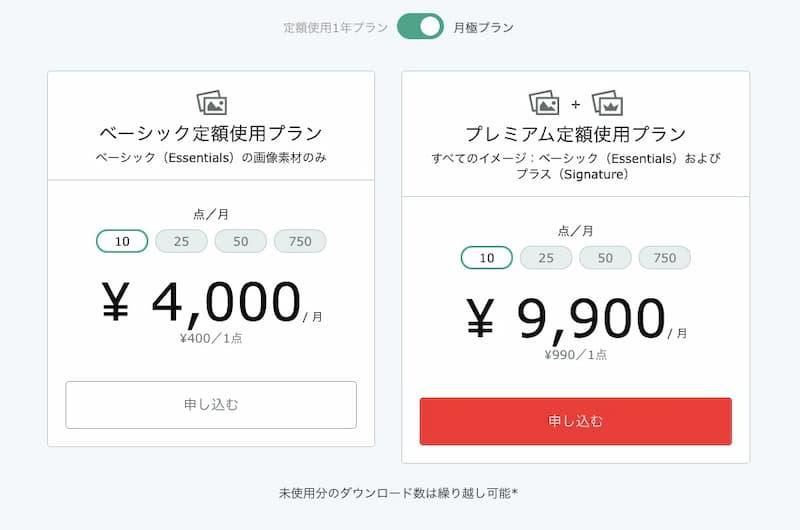 iStock料金